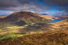 Connemara National Park, Ireland. Colorful mountains on the west coast of Ireland Stock Photography