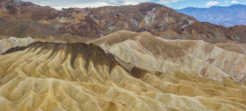 Colorful mountains of Zabriskie point in Death Valley Stock Photo