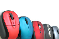 Colorful mouses border Royalty Free Stock Photos