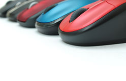 Colorful mouses border Stock Photos