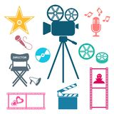 Colorful movie and music iconsMovie and music icons Stock Photo