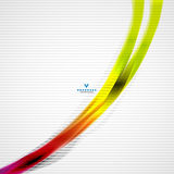 Colorful moving abstract lines modern template Stock Image