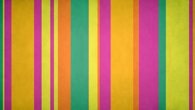 Paperlike Multicolor Stripes 46 // 4k 60fps Textured Spring Colors Bars Motion Background Video Loop stock footage