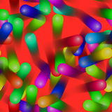 Colorful moving jellybean wallpaper Royalty Free Stock Photos