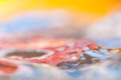 Colorful moving liquid abstract Stock Image