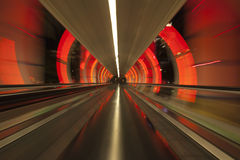 Colorful moving walkway in Las Vegas, Nevada Royalty Free Stock Photo
