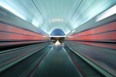 Colorful moving walkway in Las Vegas, Nevada Royalty Free Stock Photography