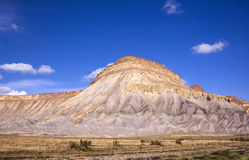 Colorful Mt. Garfield. One of the most striking formations in western Colorado is Mt. Garfield Royalty Free Stock Image