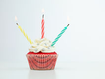 Colorful muffin candles Royalty Free Stock Photos