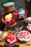 Colorful muffins Stock Photos