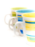 Colorful mugs Royalty Free Stock Images