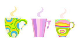 Colorful mugs Stock Photo