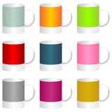 Colorful mugs Stock Photos