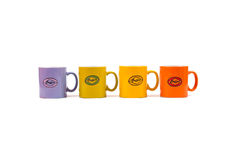 Colorful mugs Royalty Free Stock Photography