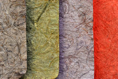 Colorful Mulberry Paper Stock Image