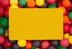 Colorful multi colored bubble gum background Stock Image