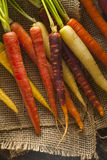 Colorful Multi Colored Raw Carrots. On a Background Royalty Free Stock Image