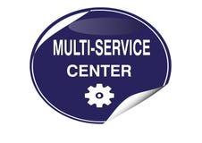 COLORFUL MULTI-SERVICE CENTER ICON WEB BUTTON stock illustration