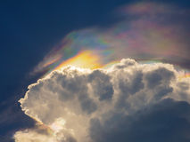 Colorful multicolor in the cloudy storm, catching by sun light Stock Photos