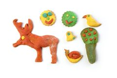 Colorful multicolor funny biscuits shapes Stock Images