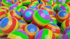 Colorful abstract balls 3d rendering