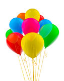 Colorful multicolored balloons isolated on white Royalty Free Stock Photo