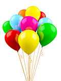 Colorful multicolored balloons isolated on white Stock Image