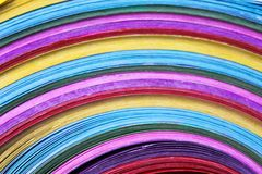 Colorful multicolored paper  in line patterns background stock photography