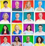 Colorful Multiethnic Group Of People Smiling Stock Photography
