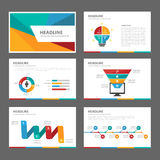 Colorful multipurpose Brochure flyer leaflet website template flat design Royalty Free Stock Images