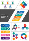 Colorful multipurpose infographic element flat design set Royalty Free Stock Photo