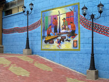 Colorful mural, San Juan La Laguna, Guatemala, Central America. The village is very famous for its murals Royalty Free Stock Photo