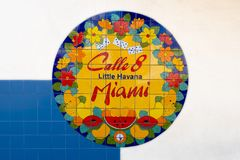 Mural at 8th street in Little Havana, Miami royalty free stock images