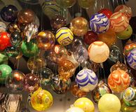 Glass Baubles. Colorful Murano Glass Baubles Christmas Decoration royalty free stock photo