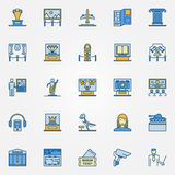 Colorful museum icons Royalty Free Stock Photography
