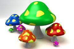 Colorful Mushroom Stock Images