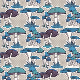 Colorful mushrooms seamless   pattern Royalty Free Stock Image