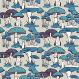 Colorful mushrooms seamless   pattern Royalty Free Stock Images