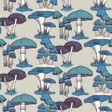 Colorful mushrooms seamless   pattern Stock Image