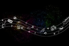 Colorful Music Royalty Free Stock Photography