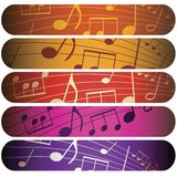Colorful music Stock Photos