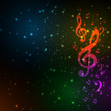Colorful music backgroud royalty free illustration