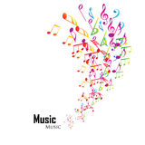 Colorful music background. With clefs Stock Image