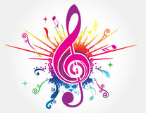 Colorful music background Stock Photos