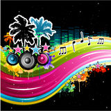 Colorful music background Stock Photography
