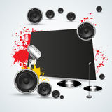 Colorful music background Royalty Free Stock Image