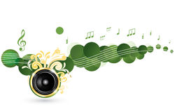 Colorful music background Royalty Free Stock Photos