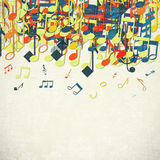 Colorful music background. Royalty Free Stock Photo