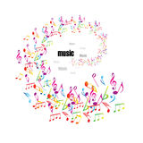 Colorful music background with clefs royalty free illustration