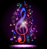 Colorful music background. Illustration of  Colorful music background Stock Photography